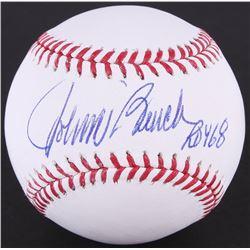 "Johnny Bench Signed OML Baseball Inscribed ""ROY 68"" (JSA COA)"