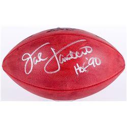 "Jack Lambert Signed Super Bowl XIV NFL Official Game Ball Inscribed ""HOF 90"" (JSA COA)"