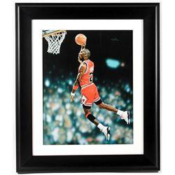 """Arthur K. Miller """"Michael Jordan"""" Bulls 24x28 Custom Framed Hand Embellished Giclee (Brushstrokes CO"""