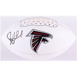 Steve Bartkowski Signed Falcons Logo Football (Radtke COA)
