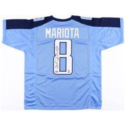 Marcus Mariota Signed Titans Jersey (Radtke COA  Mariota Hologram)