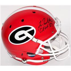 "Fran Tarkenton Signed Georgia Bulldogs Full-Size Helmet Inscribed ""CHOF 87"" (Radtke COA)"