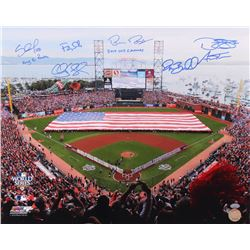 San Francisco Giants 2010 World Series Champs 16x20 Photo Signed by (7) With Bruce Bochy, Pat Burrel