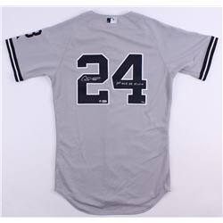 "Gary Sanchez Signed LE Yankees Majestic Authentic On-Field Jersey Inscribed ""1st MLB HR 8/10/16"" (ML"