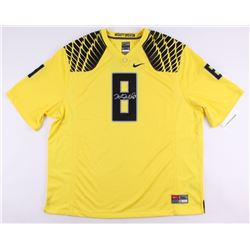 Marcus Mariota Signed Oregon Ducks Nike Authentic On-Field Jersey (UDA COA)