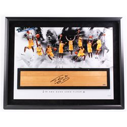 Shaquille O'Neal Signed LE Lakers 28x36 Custom Framed Authentic Game-Used Floor Piece (UDA COA)
