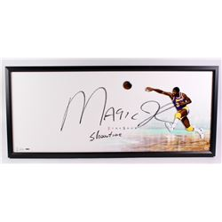 Magic Johnson Signed Lakers  The Show  20x46 Custom Framed Display Inscribed  Showtime  (UDA COA)