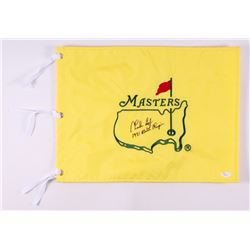 "Charles Coody Signed Masters Pin Flag Inscribed ""1971 Masters Champion"" (JSA COA)"