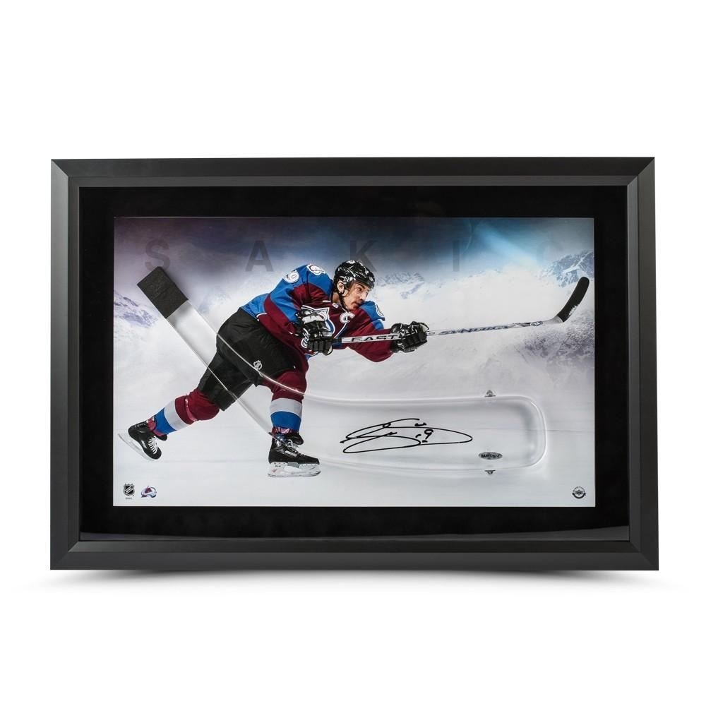 Joe Sakic Signed Avalanche 25x17 Custom Framed Acrylic