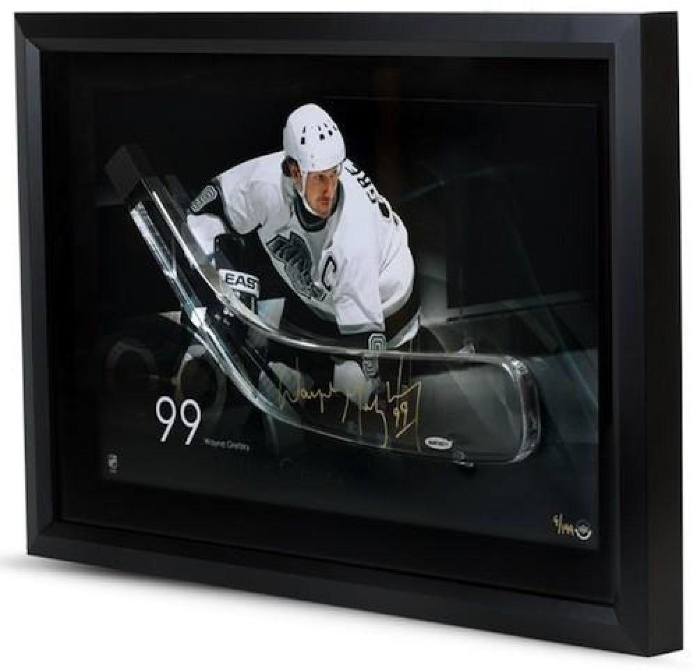 Wayne Gretzky Signed Kings LE 16x24 Custom Framed Hockey Stick