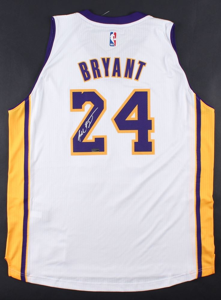 sneakers for cheap d3f1b 96b4b Kobe Bryant Signed Lakers Authentic Adidas Swingman Jersey
