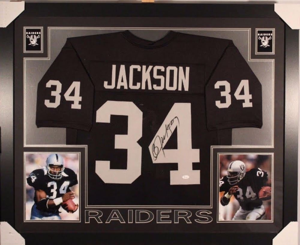 cheap for discount c9570 1a21b Bo Jackson Signed Raiders 35