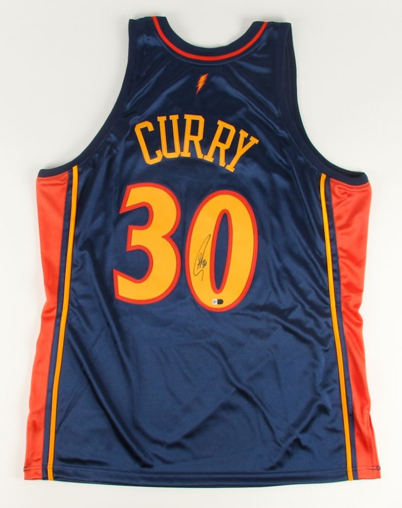 1f68dc259 Image 1   Stephen Curry Signed Throwback Warriors Jersey (Fanatics)