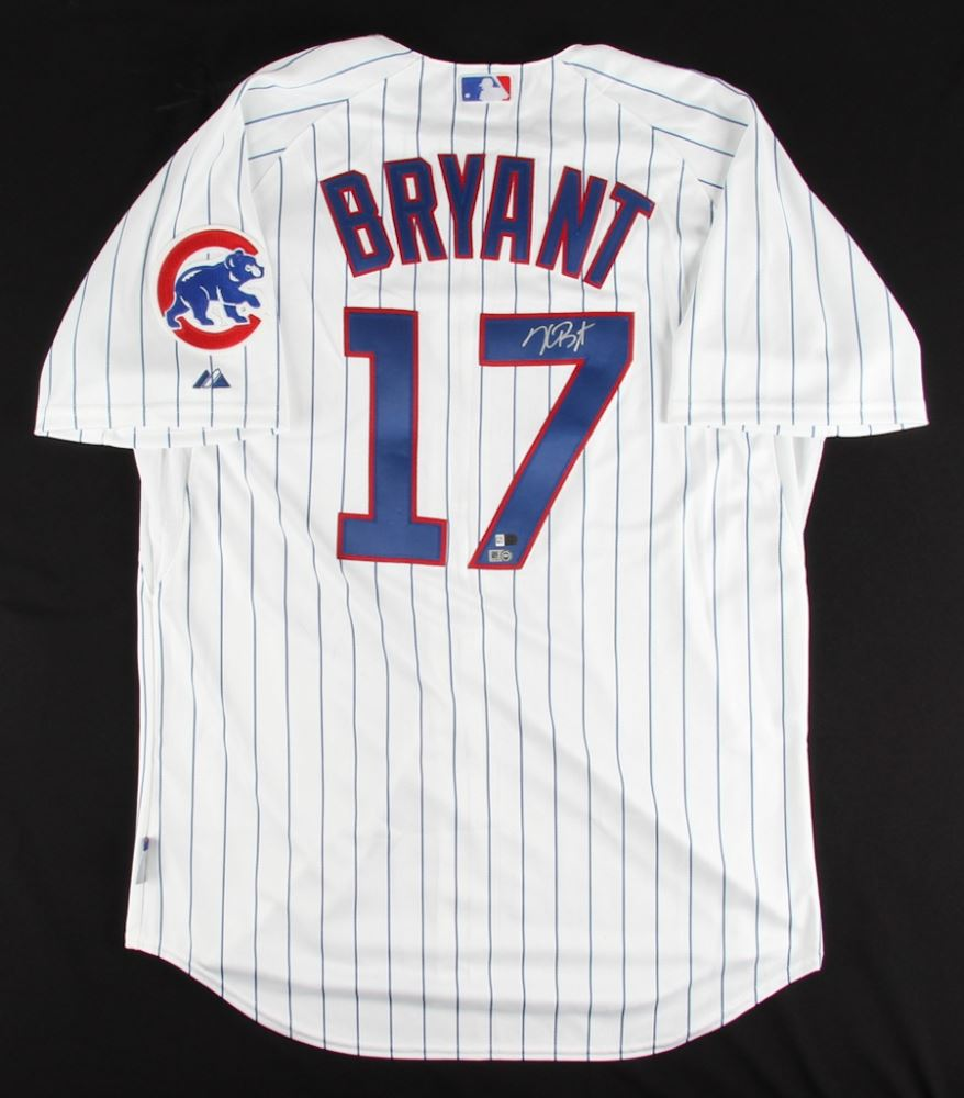 388a10119 Image 1   Kris Bryant Signed Cubs Majestic Authentic Jersey (MLB Fanatics  Hologram)