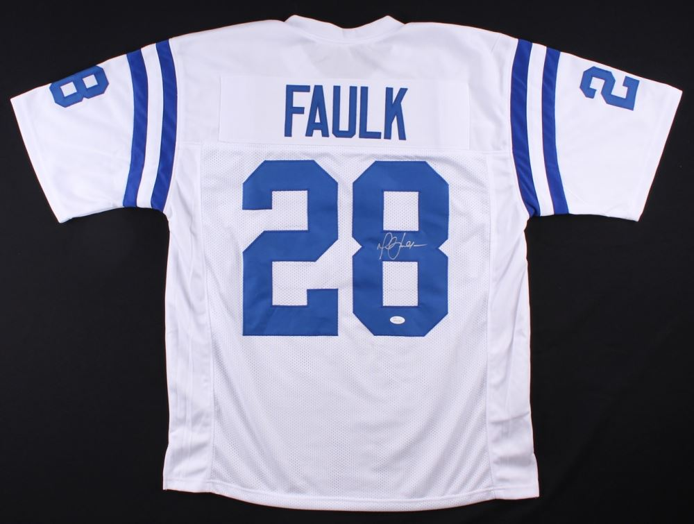 new concept 70db0 52b86 Marshall Faulk Signed Colts Jersey (JSA COA)