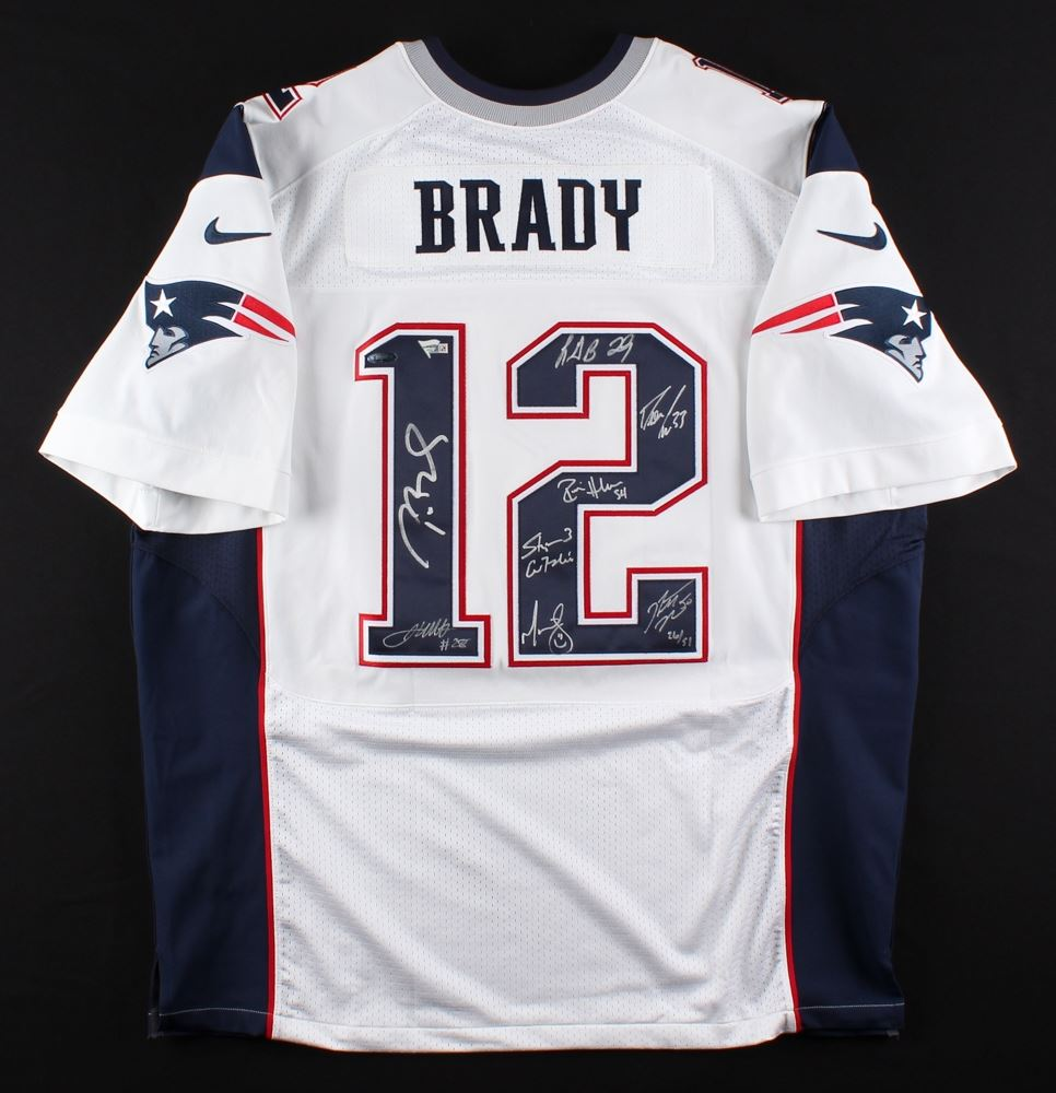 Patriots LE Authentic Nike Jersey Signed By (8) With Tom Brady ...