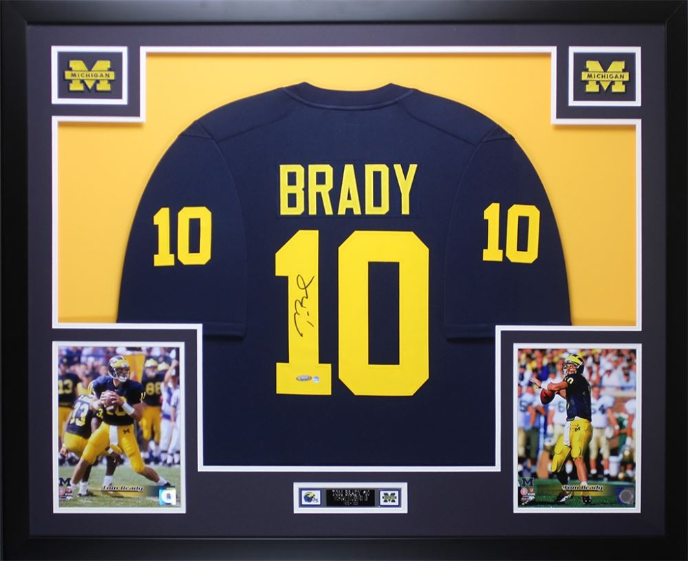 online store 0461a e4851 Tom Brady Signed Michigan Wolverines 35