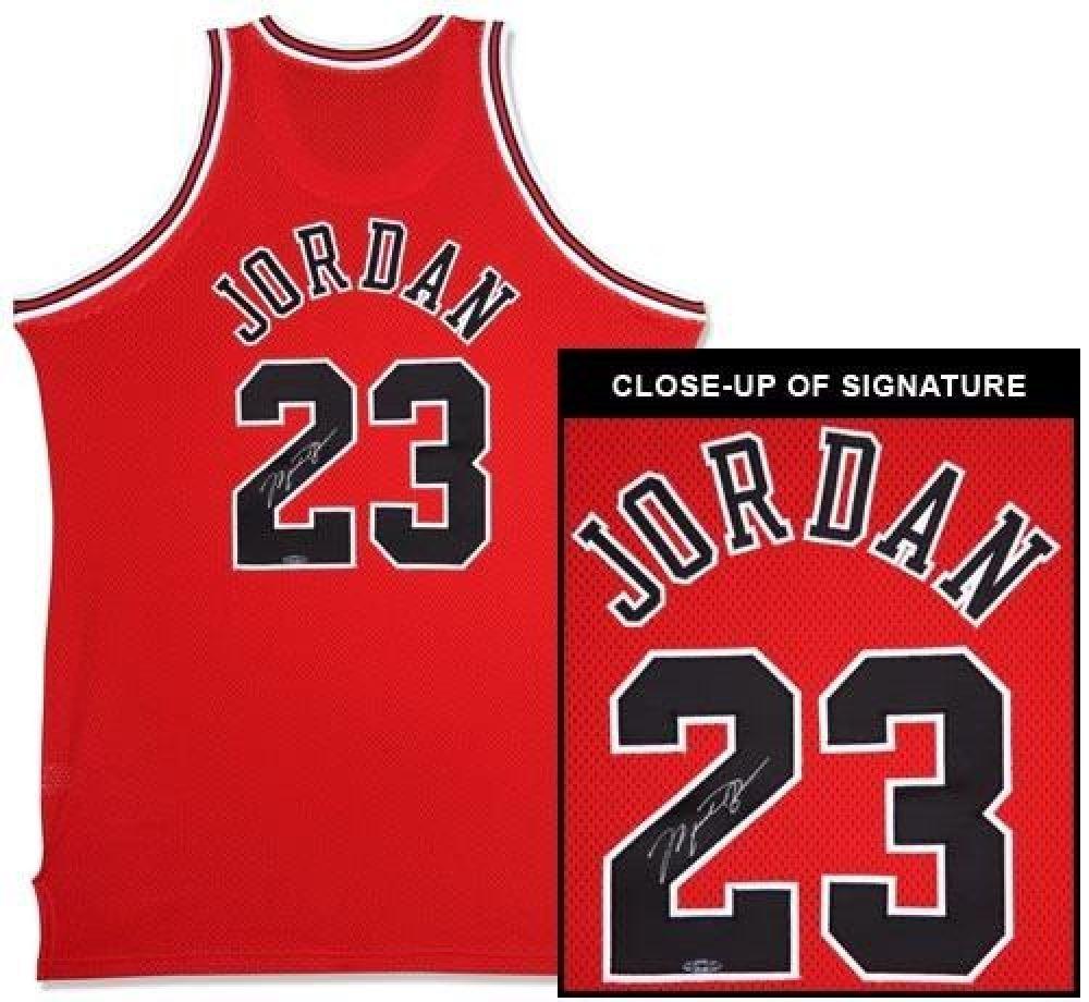 2e1b4f9e72b Image 1 : Michael Jordan Signed Bulls Mitchell Ness Jersey (UDA COA)