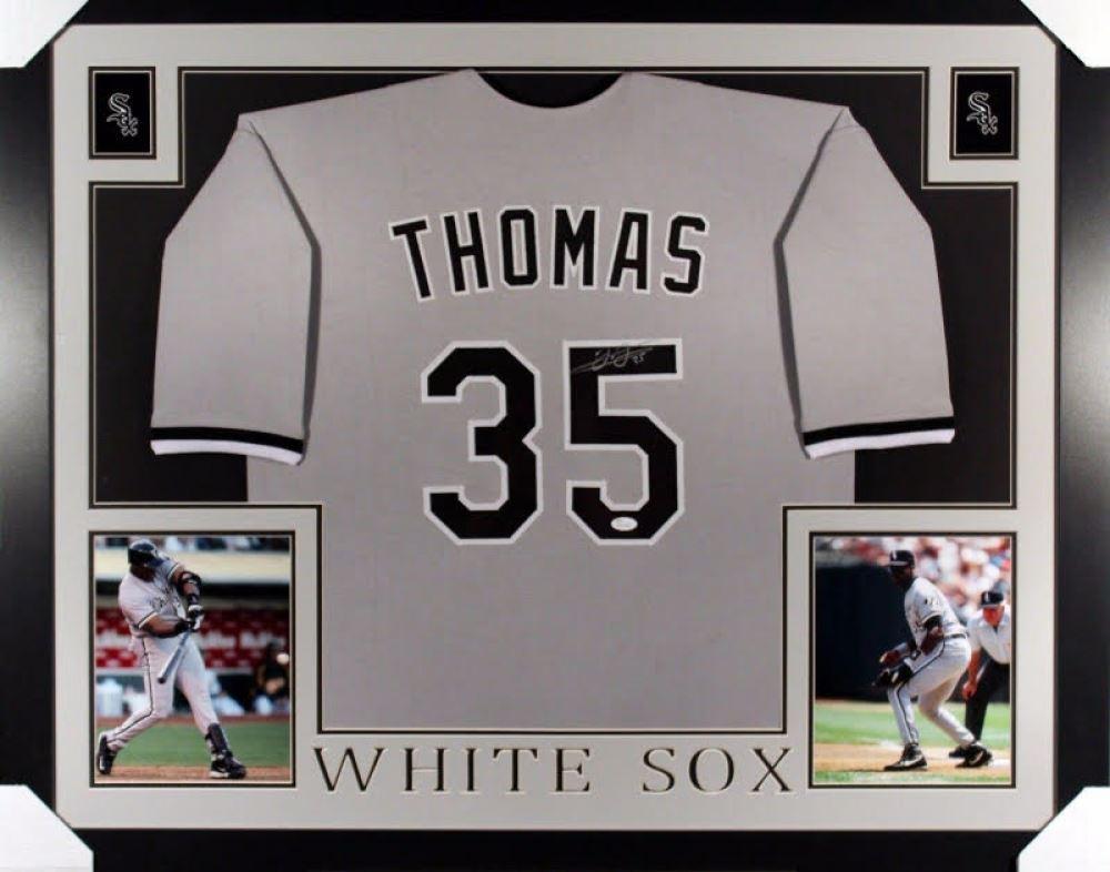 pretty nice 5846c a63f5 Frank Thomas Signed White Sox 35