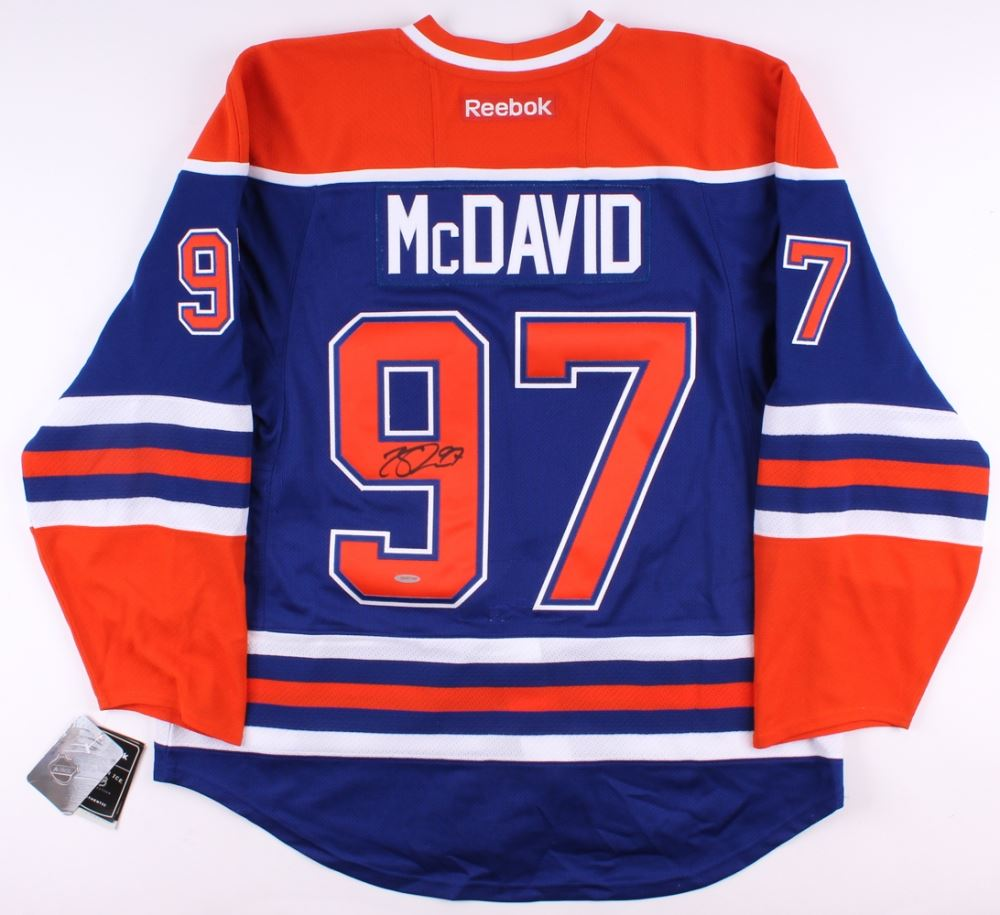 on sale 37cda c2ab1 Connor McDavid Signed Authentic Oilers Captain Jersey ...