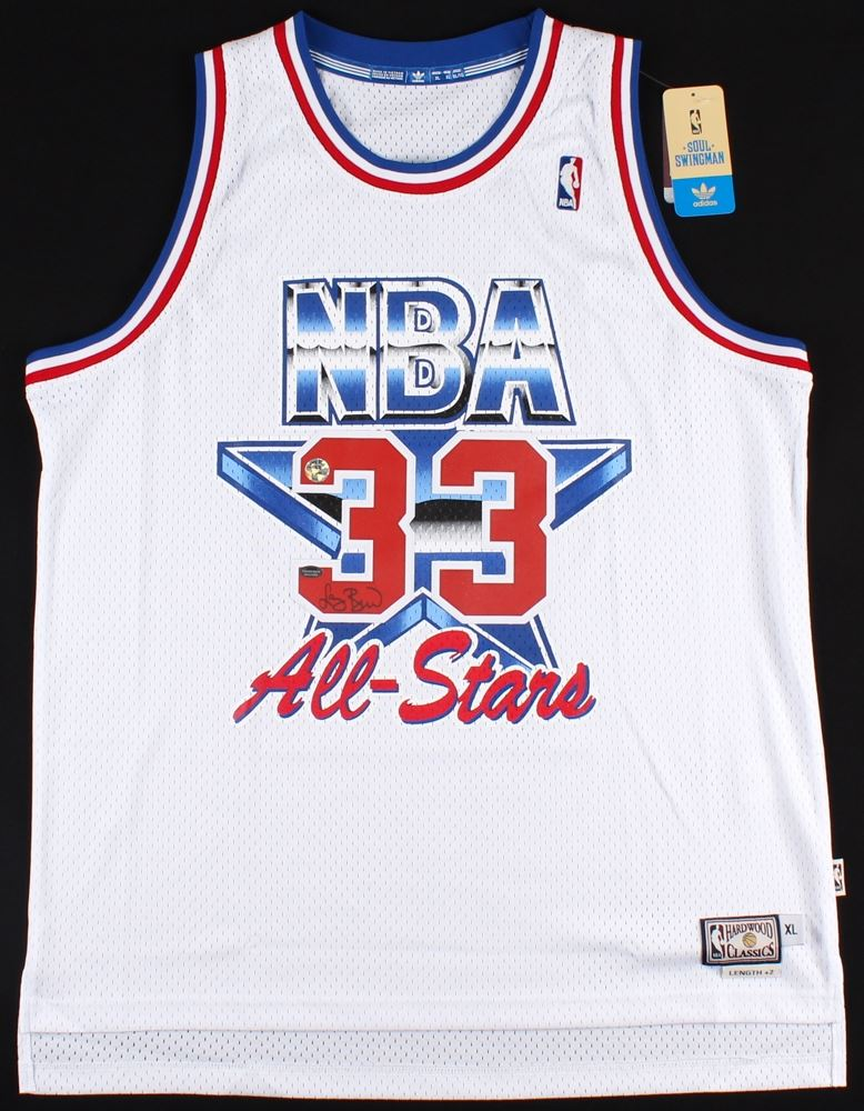 sale retailer 4e874 40a69 Larry Bird Signed 1992 NBA All-Star Game Adidas Jersey ...
