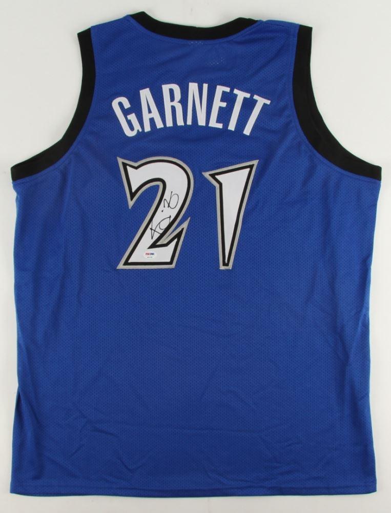 lowest price 56e97 5b1df Kevin Garnett Signed Timberwolves Jersey (PSA COA)