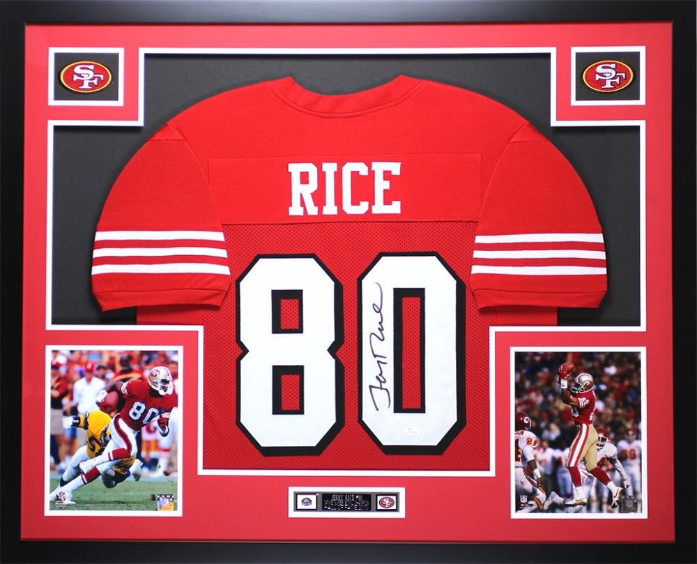 brand new 8825f 94531 Jerry Rice Signed 49ers 35