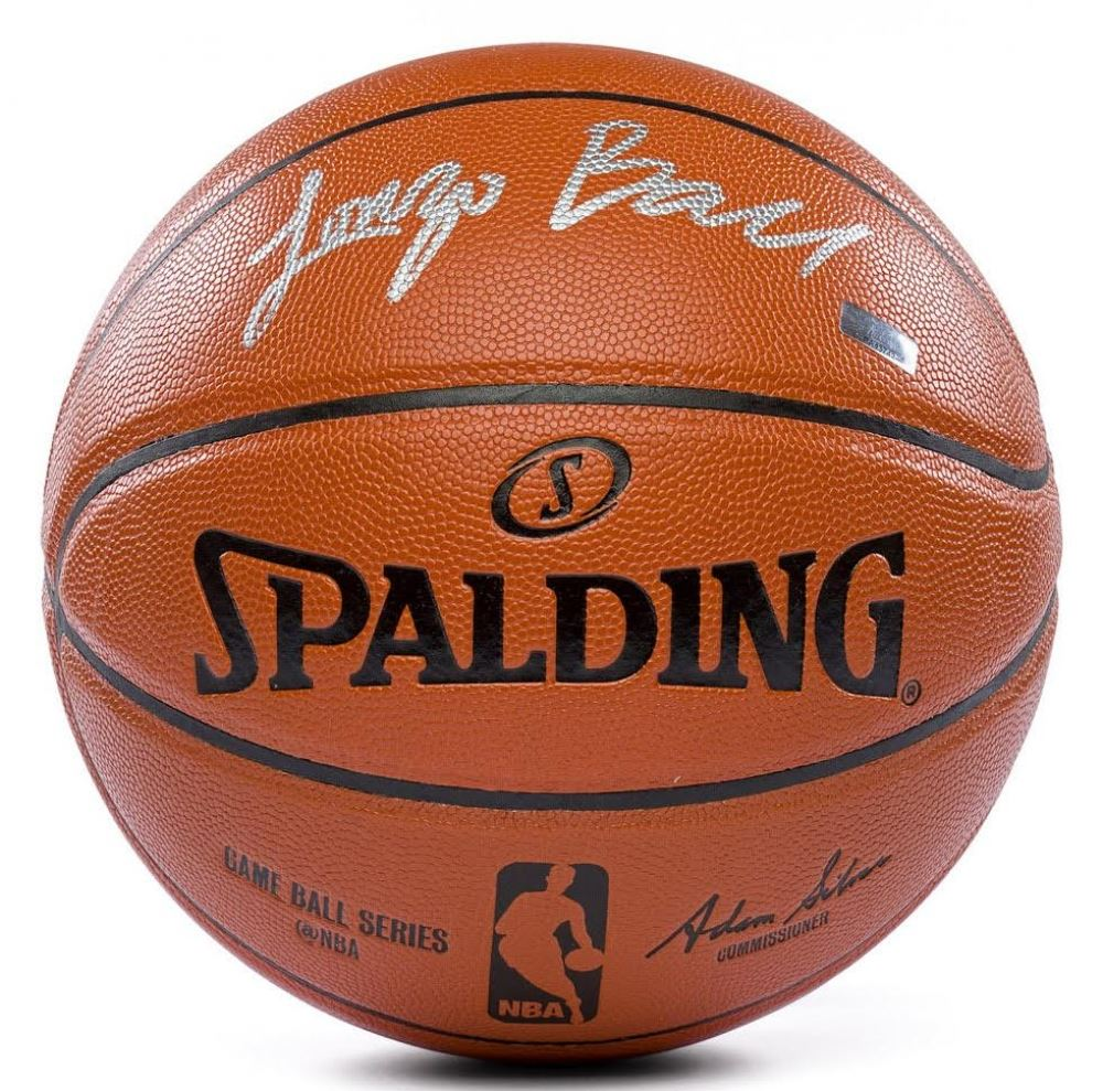 7ee7c9b6292 Lonzo Ball Signed Game Ball Series Basketball (Panini COA)
