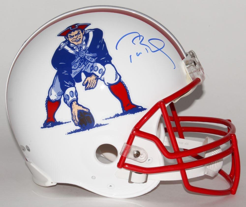 timeless design e0382 e9cd5 Tom Brady Signed Patriots Throwback Full-Size Authentic Pro ...