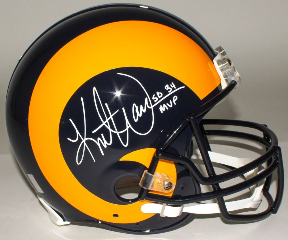 quality design c28c3 24cf6 Kurt Warner Signed Rams Full-Size Throwback Authentic ...