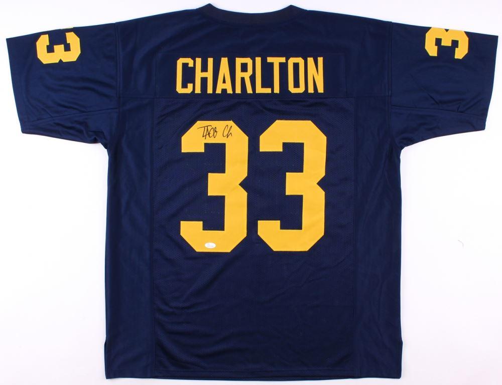 c64137a070e Image 1 : Taco Charlton Signed Michigan Wolverines Jersey (JSA Hologram)