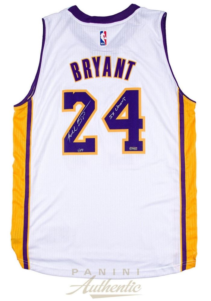 Kobe Bryant Signed Lakers Jersey Inscribed