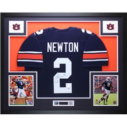 0fa2df7f9 Cam Newton Signed Auburn Tigers 35 x 43 Custom Framed Jersey (PSA COA Newton  Hologram