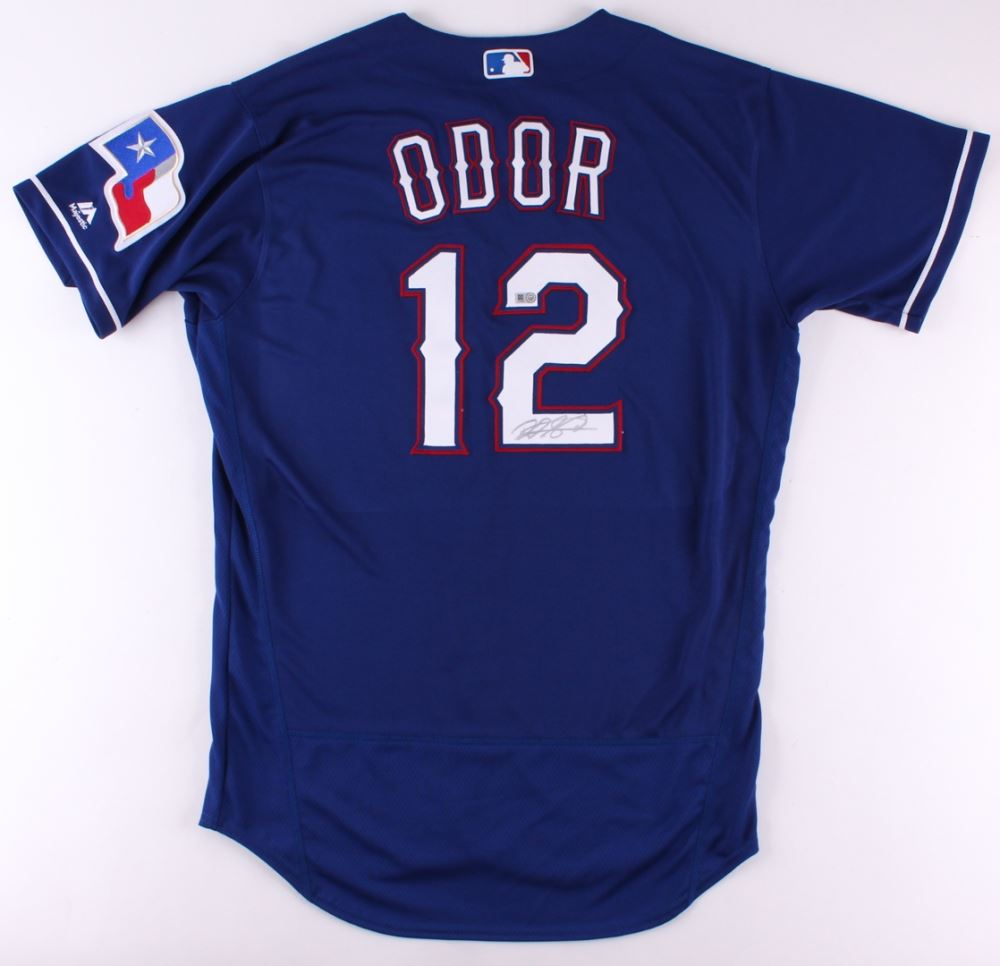 brand new 261b0 9ac75 Rougned Odor Signed Rangers Jersey (MLB Hologram)