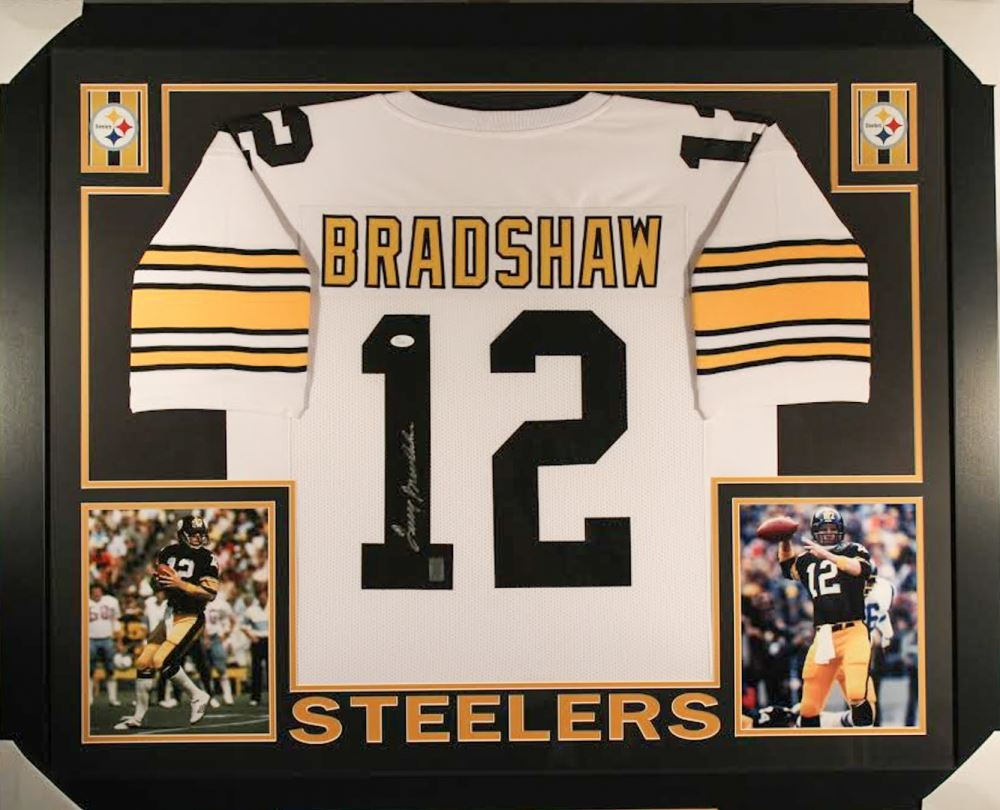 4d0b36d735f Image 1   Terry Bradshaw Signed Steelers 36x44 Custom Framed Jersey (JSA  COA Bradshaw Hologram