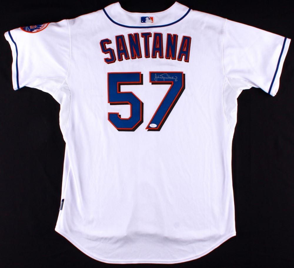 size 40 2d542 bd46c Johan Santana Signed Mets Authentic On-Field Jersey (JSA ...