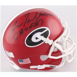 "Fran Tarkenton Signed Georgia Bulldogs Mini-Helmet Inscribed ""CHOF 87"" (Radke COA)"