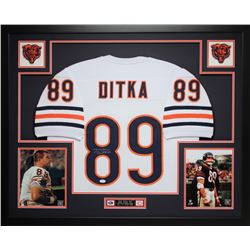 "Mike Ditka Signed Bears 35"" x 43"" Custom Framed Jersey (JSA COA)"