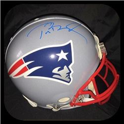 Tom Brady Signed Patriots Full-Size Authentic On-Field Helmet (Steiner COA  Tristar COA)