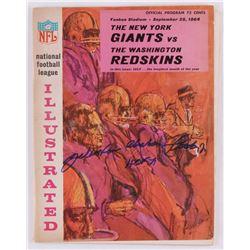 """Y. A. Tittle Signed Vintage 1964 Giants vs. Redskins Regular Season Game Program Inscribed """"HOF 71"""""""