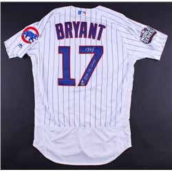 """Kris Bryant Signed Cubs Majestic Authentic Jersey Inscribed """"2016 WS Champs"""" (MLB  Fanatics)"""