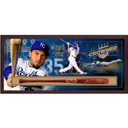 "Eric Hosmer Signed Royals 49.5"" x 23.5"" x 3.25"" Custom Framed Dove Tail Game Model Baseball Bat Shad"