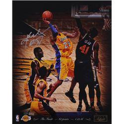 "Kobe Bryant Signed LE Lakers ""4/13/2016"" 16x20 Photo (Panini COA)"