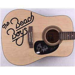 Mike Love, Al Jardine  Bruce Johnston Signed The Beach Boys Rogue Full-Size Acoustic Guitar (JSA COA