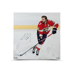 "Aaron Ekblad Signed Panthers ""Canvas Beginnings"" 24x24 Photo on Canvas (UDA)"