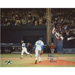 """Al Downing Signed Dodgers 8x10 Photo Inscribed """"#715 4/8/74"""" (MAB Hologram)"""