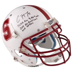Christian McCaffrey Signed Stanford Cardinals Limited Edition Full-Size Authentic On-Field Helmet In
