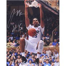 Jahlil Okafor Signed Duke Blue Devils 16x20 Photo (Schwartz COA)
