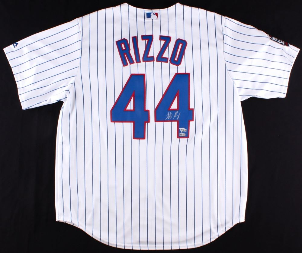 newest 095d7 3549d Anthony Rizzo Signed Cubs 2016 World Series Authentic Jersey