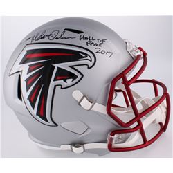 Morten Andersen Signed Falcons Full-Size Blaze Helmet Inscribed  Hall of Fame 2017  (Radtke COA)